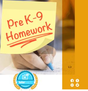 Pre K-9 Homework